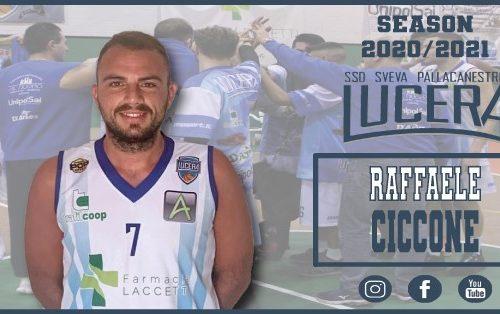 Raffaele Ciccone nel roster della Sveva Pallacanestro Lucera