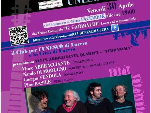 Al Teatro Garibaldi di Lucera serata con Vince Abbracciante Quartet – Terranima