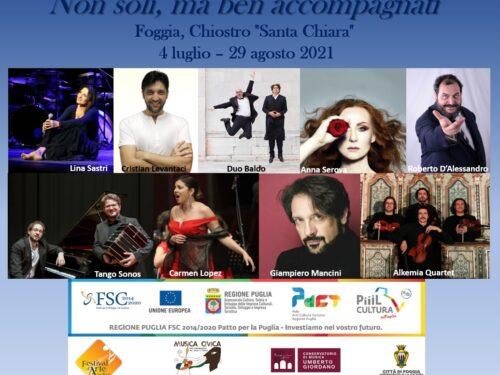 Torna il Festival d'arte Apuliae. Otto spettacoli gratuiti presso il Chiostro di Santa Chiara