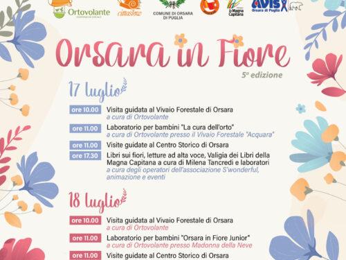 """""""Orsara in fiore"""" in programma il 17 e il 18 luglio"""